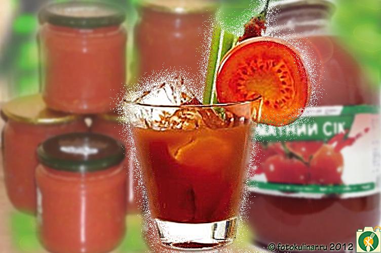 Как правильно сделать сок из помидоров 562