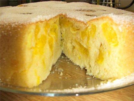 Пирог в мультиварке с апельсинами